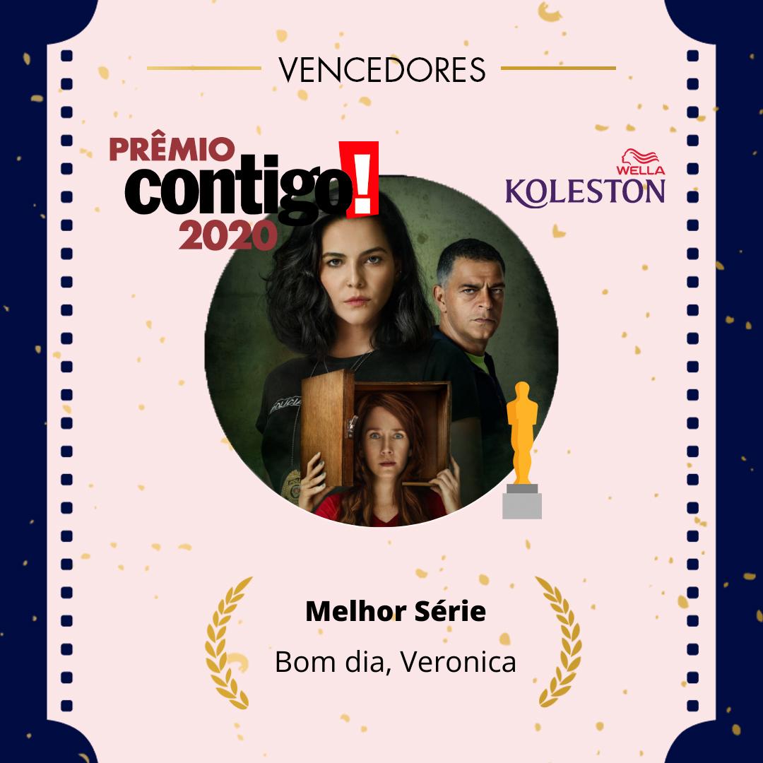 """Um grande sucesso, """"Bom Dia, Verônica"""", da @NetflixBrasil , venceu o #PremioCONTIGO2020 como Melhor Série @wellabr #Paixaoporcabelos #KolestonNoitesIluminadas"""