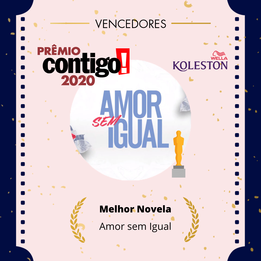 O público escolheu @amorsemigual da Record Tv como a Melhor Novela no #PremioCONTIGO2020