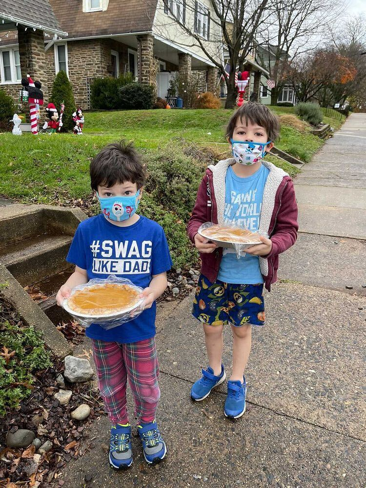 In Pennsylvania, Jenn and her grandsons stepped up to meet the #OFCareChallenge in the sweetest way. This Thanksgiving, they checked in on neighbors who are  frontline workers—and delivered homemade pies to their doorsteps.