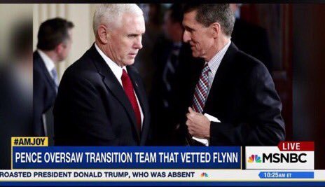 "@Mike_Pence Anyone else out there believe that Flynn didn't actually lie to Pence?  Pence was warned by Elijah Cummings and Sally Yates Flynn had some ""issues"".  Imo, #PenceKnew."