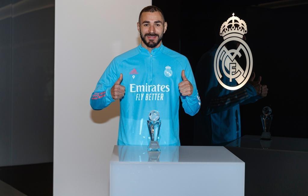 Gracias por estos Premios Marca-Liga 2019-20. Mis premios son de todo el equipo y de la afición#halamadrid #PremiosMARCA2020#alhamdulillah🤲🏼