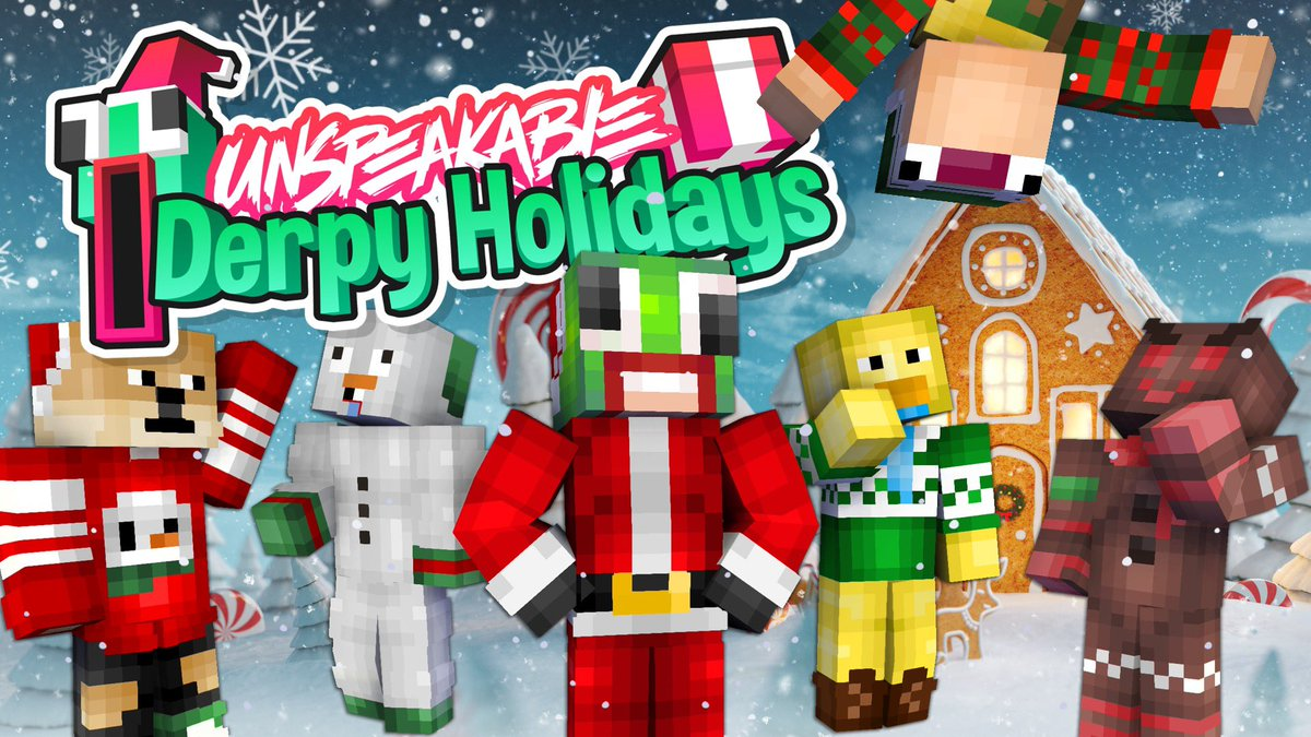 UnspeakableGaming - Are you ready for the Holidays? I made another Minecraft Skinpack just in time for Christmas! You can get 14 Custom Derpy Holiday Skins on the Minecraft Marketplace. Get your Unspeakable Derpy Holiday Minecraft Skinpack today! 🎅🏻