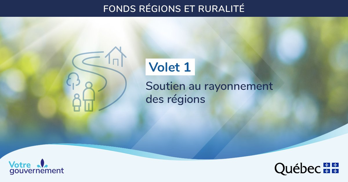 Fonds Régions et ruralité Volet 1 Soutien au rayonnement des régions