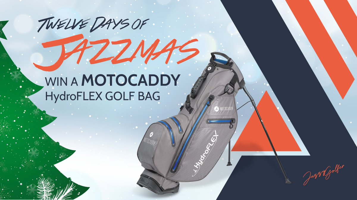 🎄 Day 9 is a @MotocaddyGolf HydroFLEX golf bag (lightweight AND waterproof!)  To Enter: 1️⃣ Follow me @MotocaddyGolf  2️⃣ Retweet this post  3️⃣ Subscribe to my YouTube:   🎁 Winners chosen Boxing Day, 26th December. Anyone, anywhere can enter!