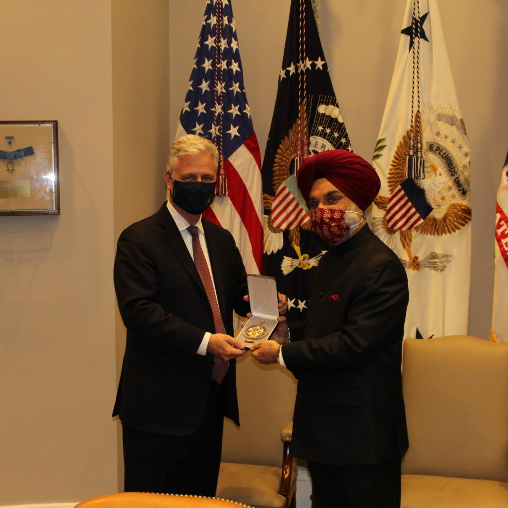 Recognition for increasing consensus on Indo- US Strategic Partnership, says PM on accepting Legion of Merit Award