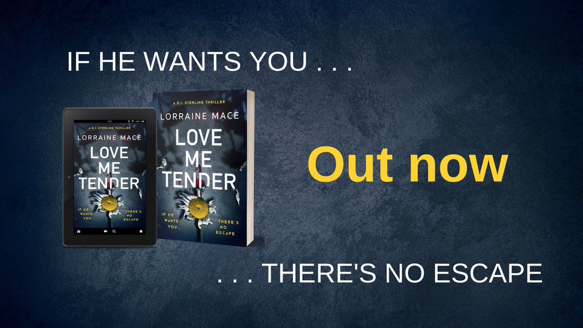 Wishing the happiest of publication days to the brilliant @lomace! 🥳🙌🎉😍 LOVE ME TENDER is the next instalment in Lorraines dark and gritty DI Sterling series and its out now in paperback and ebook. Order your copy here: smarturl.it/LoveMeTender_LM