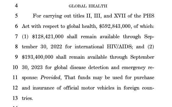 WTF!!!!… The Covid relief bill includes $193 million for federal HIV/AIDS workers stationed abroad to buy new cars (twitter.com)