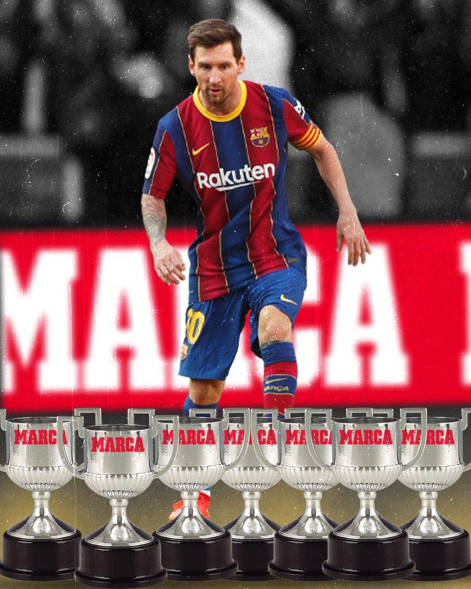 🏆🏆🏆🏆🏆🏆🏆Séptimo Pichichi para Messi: un récord de otro mundo para Leo🤩🔝🐐 #PremiosMarca2020 🏆
