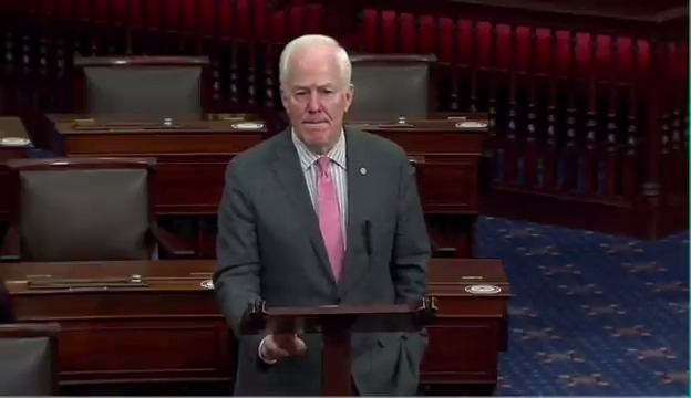 """Sen. John Cornyn: """"On at least three occasions, maybe four, but at least three, we offered another half trillion dollars in relief only to be blocked by Democrats here in the Senate."""""""