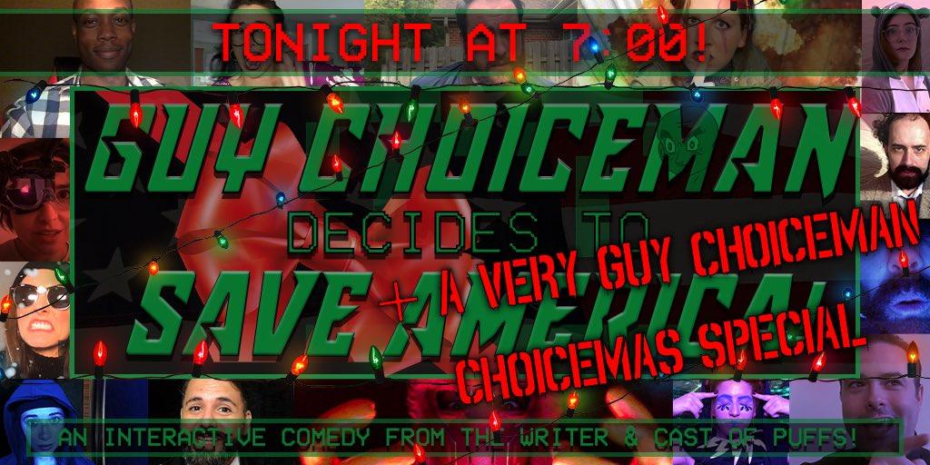 Join us at 7pm EST for Guy Choiceman...: A Very Guy Choiceman Choicemas Special! Tix: mattcoxland.com