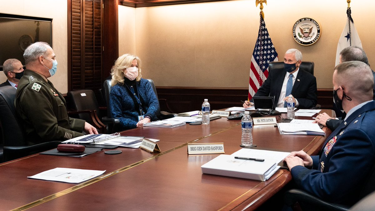 We also had a call with America's Governors to discuss Vaccines, Vigilance & our continuing effort to meet the needs of states & hospitals. Under Operation Warp Speed, we're on track to vaccinate 20M before years end. We're at the Beginning of the End of the Coronavirus pandemic!