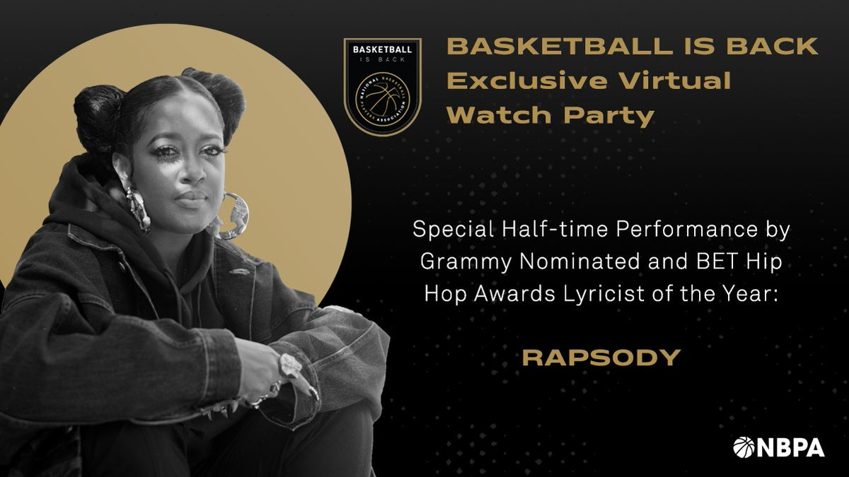 Dec 23rd. #BasketballIsBack virtual watch party and halftime performance by me. Lock in with @TheNBPA powered by sponsors @DoorDash Panini and Co-star