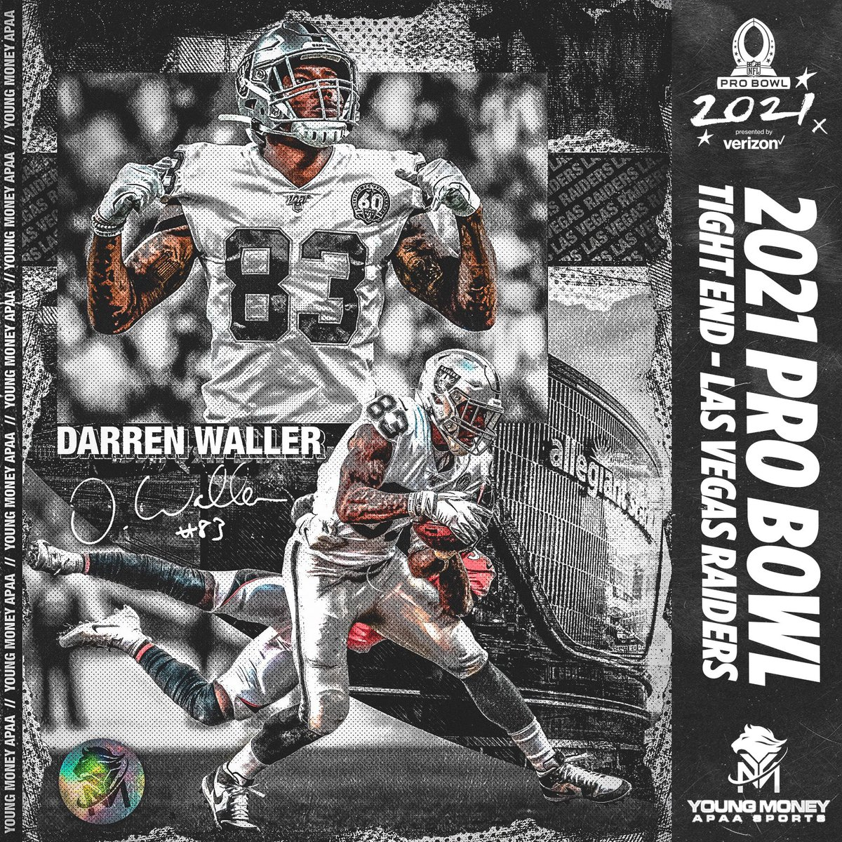 Congratulations to Darren Waller for being named to the 2021 Pro Bowl Roster!  #YMAPAA #NFL #ProBowl