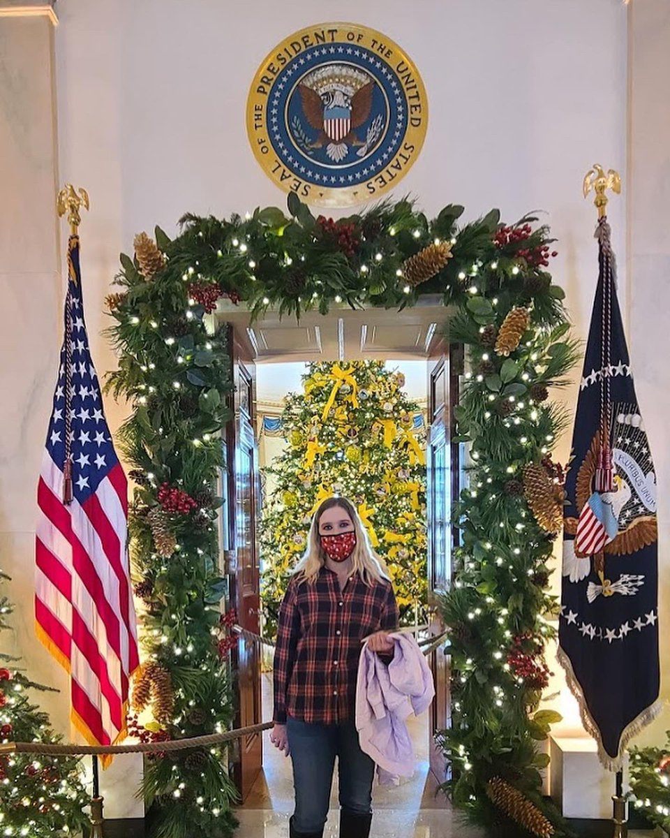 Got to do the White House Christmas tour today!! It was so beautiful! Absolutely amazing! #whchristmas