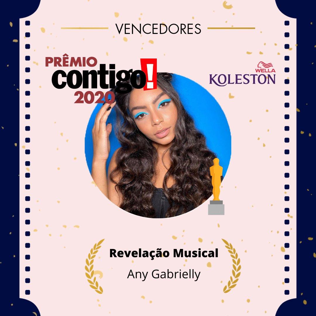 """A Any ganhou o prêmio de """"Revelação Musical"""" da @tocontigo!!  #PremioCONTIGO2020  Parabéns @anygabrielly!! ❤"""