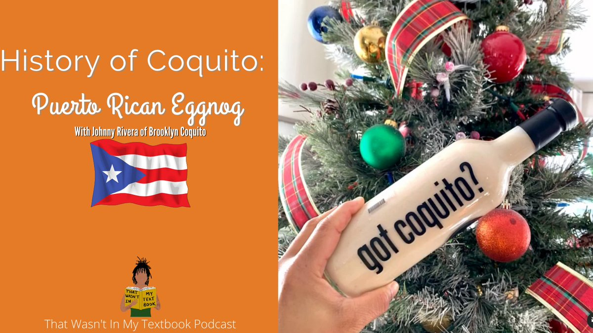Get a taste of Puerto Rican history and culture by learning about their traditional holiday drink called Coquito also known as Puerto Rican eggnog.  Listen now with our featured guest Johnny from @BrooklynCoquito: #NationalCoquitoDay
