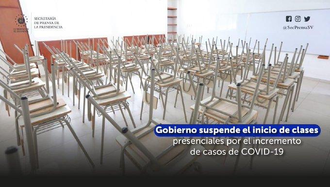 Gobierno suspende el inicio de clases presenciales