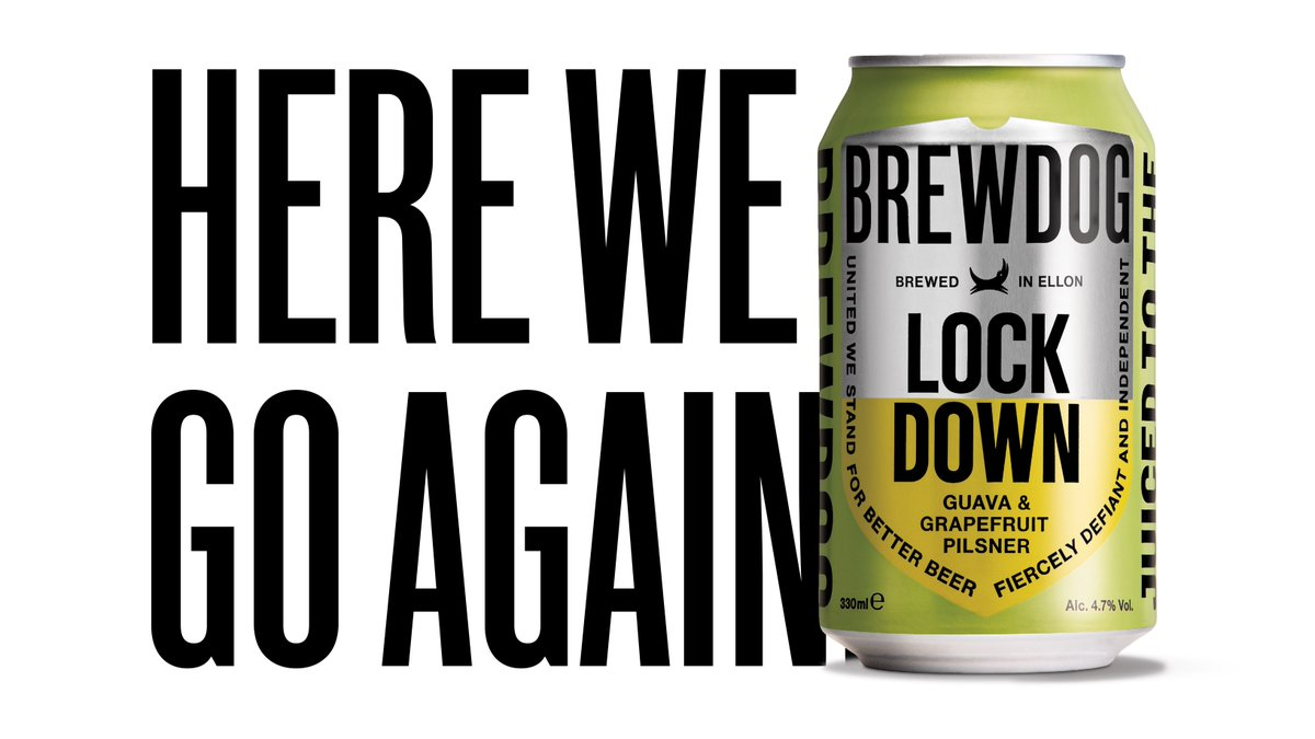 Here we go again... Luckily, we've brewed another batch.    To try and make it a little easier we're giving away 10 boxes of Lockdown Lager.   Just quote retweet this post with #LockdownLager to enter 🍻 https://t.co/OC9NcLuYfl