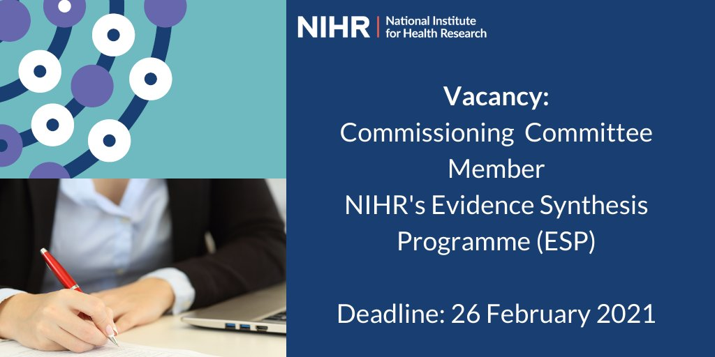 Interesting opportunity to support #socialcare research funded by @NIHRresearch though it's Evidence Synthesis Programme. Do take a look: