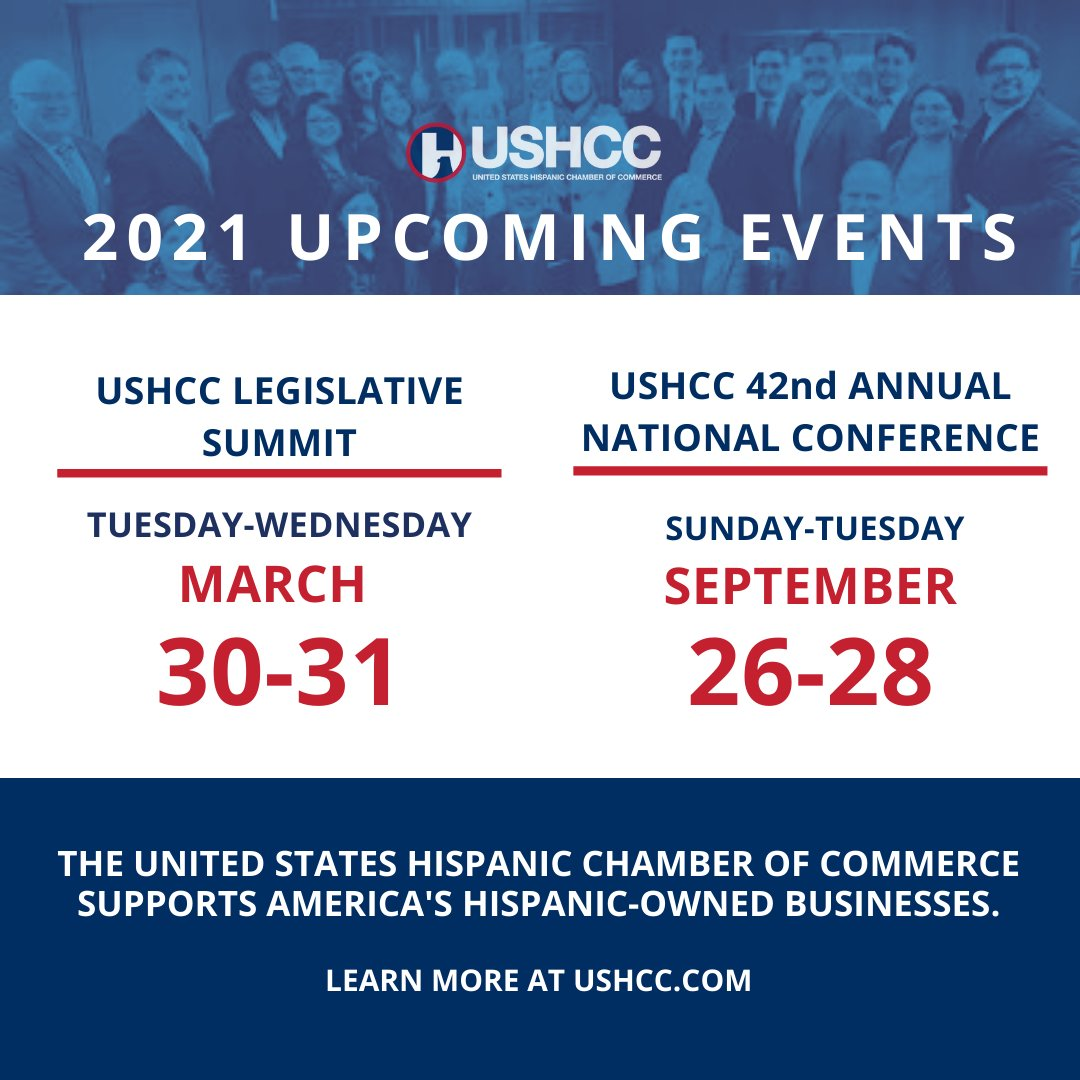 2021 @USHCC upcoming events just announced! Stay tuned for registration details. Yes, we are virtual! #USHCCLegislative #USHCCVirtual