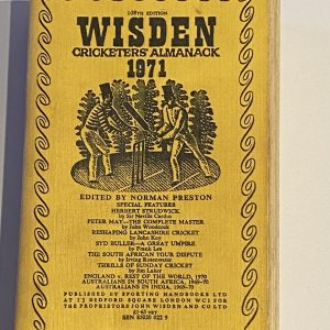 Wisden, however, thought it beneath its dignity to produce a match report in the Almanack