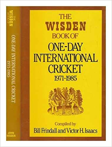By 1985 Wisden was bringing out a special edition on ODIs. It all started #onthisday 1971
