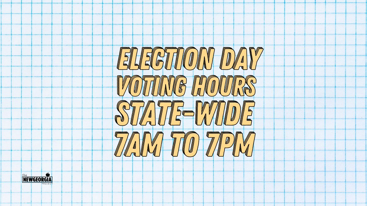 I'm wide awake 🎵🎶 Election Day voting hours are 7AM-7PM state-wide, Georgia! Get out there and flex those civic muscles. Find your polling location by logging in wit your basic voter info here:    #alleyesongeorgia #postthepeach