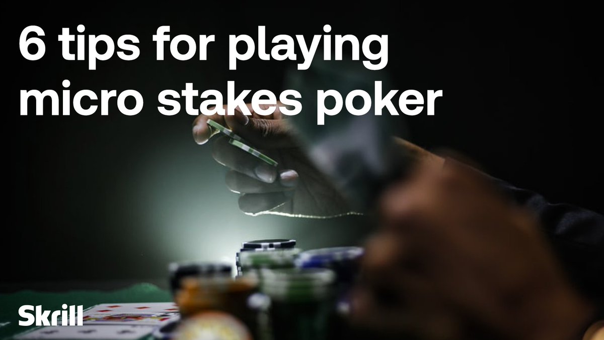 Fancy your chances at micro stakes? 🃏  Learn how to ace your opponents with these top tips.  Read more 👉 https://t.co/xzRDVHU0yZ https://t.co/Ds36eXbPpg
