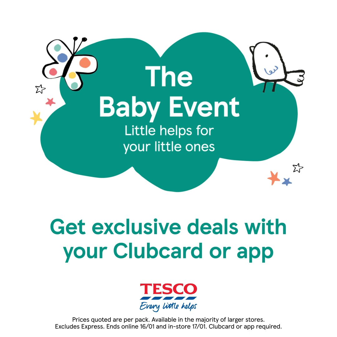 Ga ga, goo goo, ba ba – our #Baby Event is back!  When it comes to bringing up a baby, we know that every little saving helps.  Check out our top baby and toddler offers online from 26/12/20–16/01/21 and in-store from 28/12/20–17/01/21.