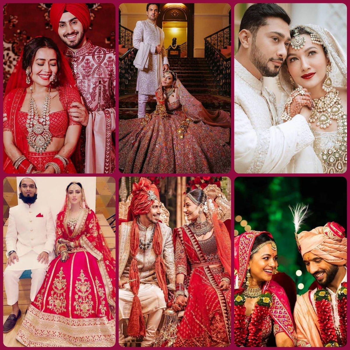B-town Celebs Viral Weddings in 2020. Explore your LOVE ❤️❤️❤️  #Bollywood #PunitPathak #BollywoodMarriage #BigFatMarriage #NehuDaVyah #NehaKakkar #GautamKitchlu #RohanpreetSingh #YuzvendraChahal #Yuzi #DhanaSaidYuz #dhanashreeverma  #KajalAggarwal