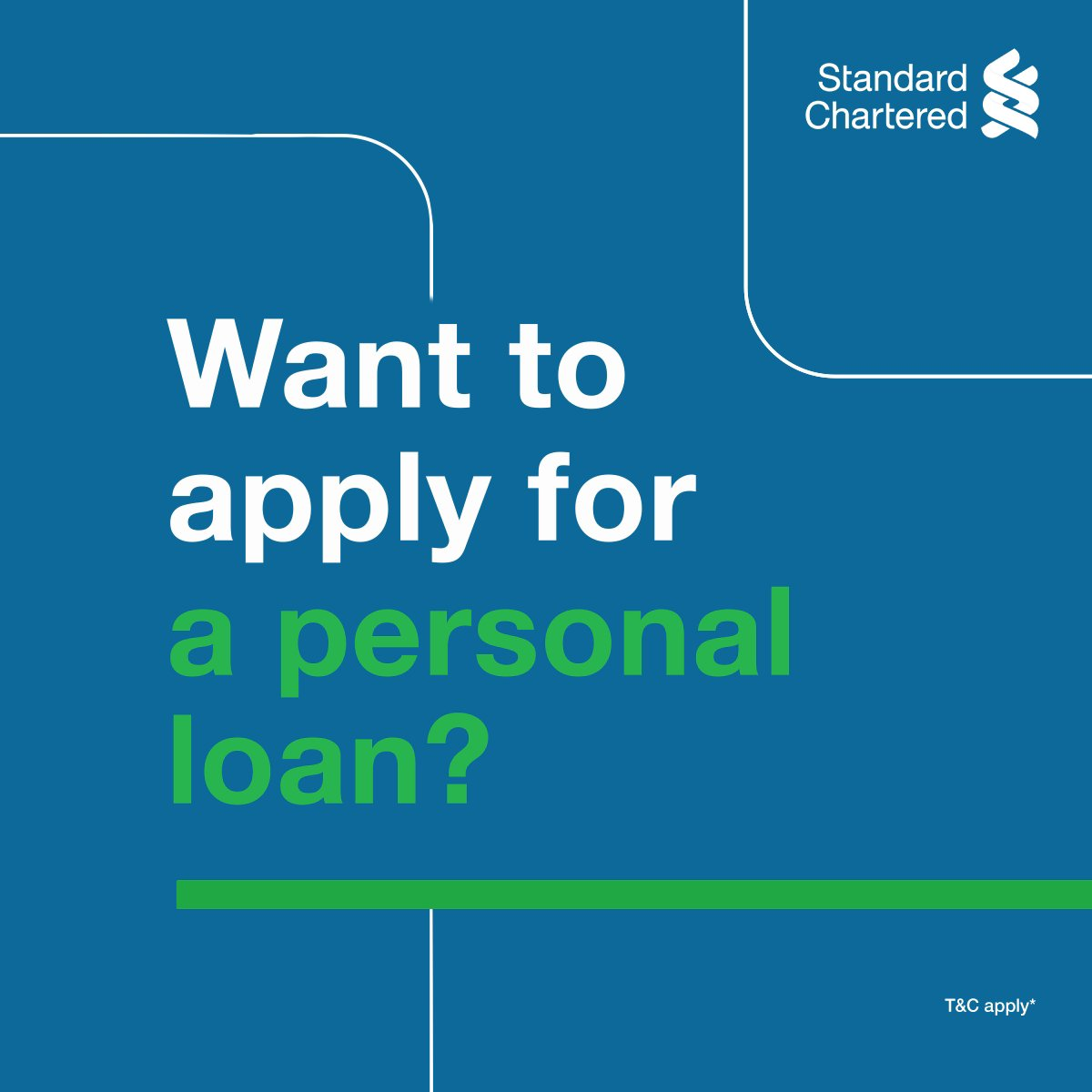 A personal loan minus the endless paperwork and trips to the bank? When you #TechItEasy, everything is possible! Apply from home with Standard Chartered's Video KYC facility for hassle-free and instant loans. To know more,