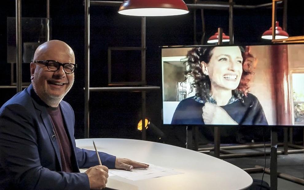 """A partir desta terça, o """"#Provoca"""", do @MarceloTas, apresenta na Cultura uma seleção dos melhores programas de 2020. E começa com uma entrevista de Denise Fraga, atriz e escritora.  Flávio Ricco/R7"""
