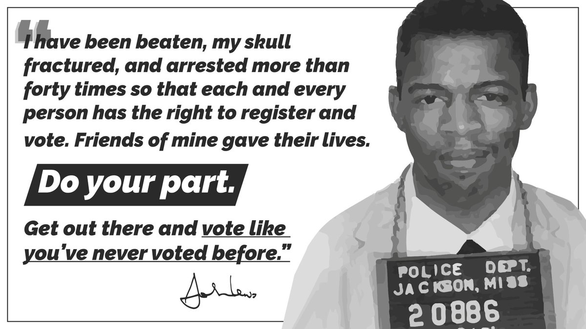 GEORGIA: My friend, the late Congressman John Lewis, said it best. Now, make your plan and vote by 7pm today: . #gasen #gapol #goodtrouble
