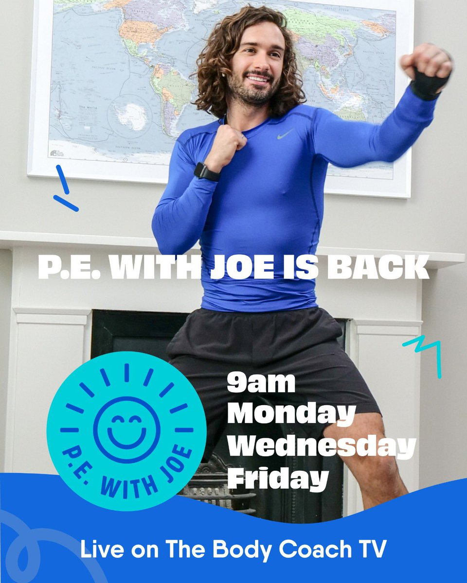 Please retweet to let your friends and family know #PEwithjoe is back on Monday ❤️🙏🏼