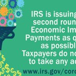 Image for the Tweet beginning: #IRS is processing the 2nd