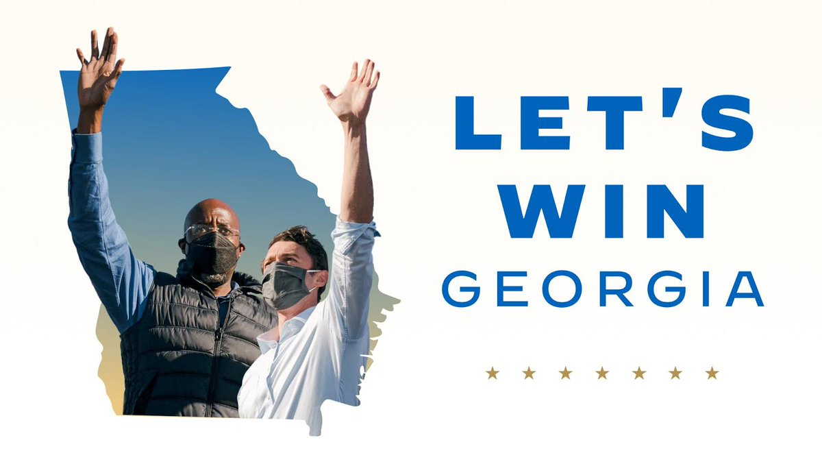 Georgia, this is it. Today is Election Day and your vote can help elect @ReverendWarnock and Jon @Ossoff to the U.S. Senate.  Make your voice heard today and vote—either in person or by dropping off your mail-in ballot at a ballot drop box.