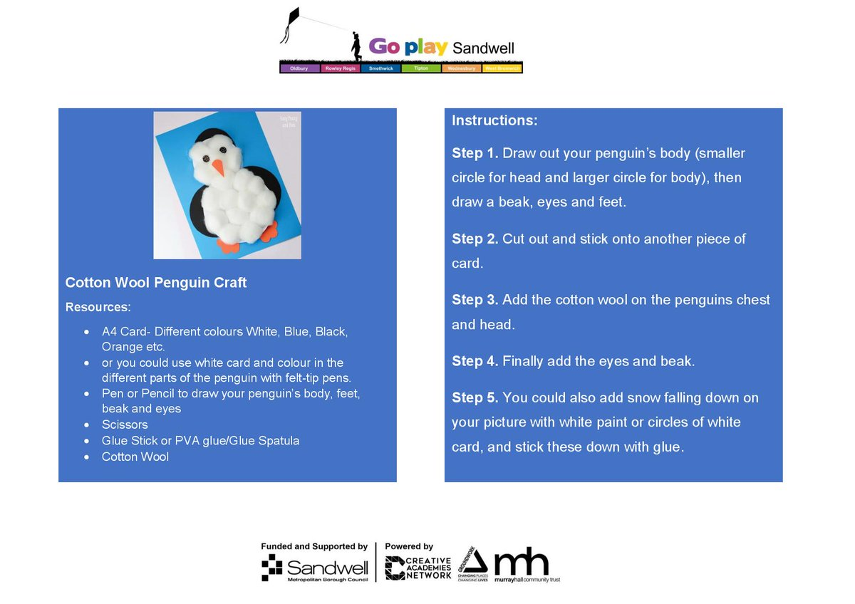 Let's finish the week with penguin facts and another  cute penguin craft.   For more play and activities check out our new website!   #goplaysandwell  #activitiesforkids  #playathome