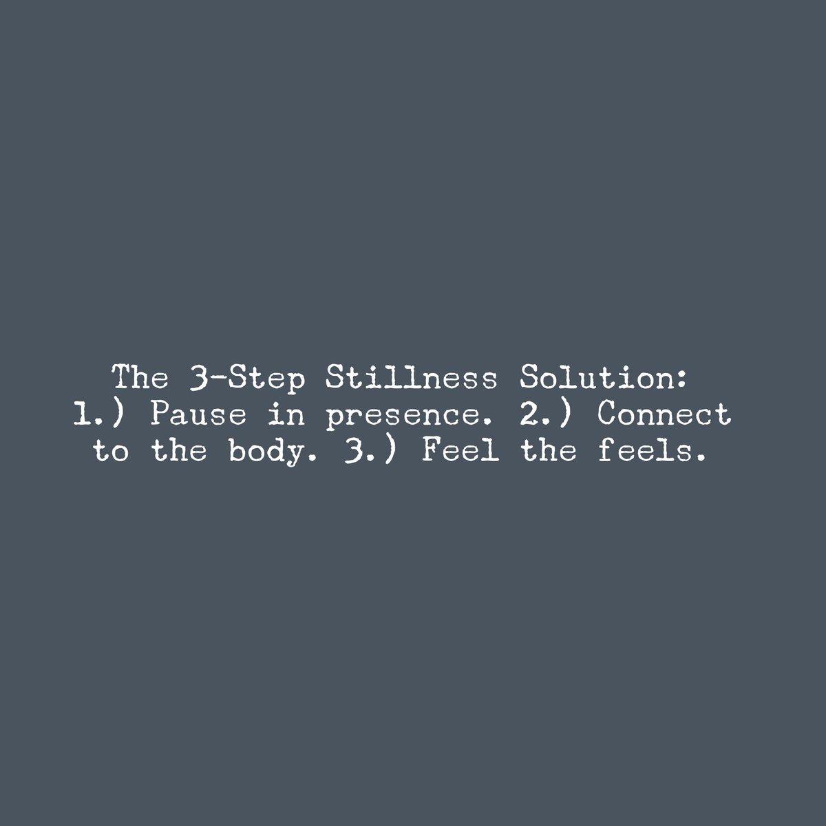 #StillnessSchool #NotPerfectJustPresent #mindfulness #meditation #energy #TheStillnessSolution #pause #connect #feeltheFeels https://t.co/H9XSq4fazw
