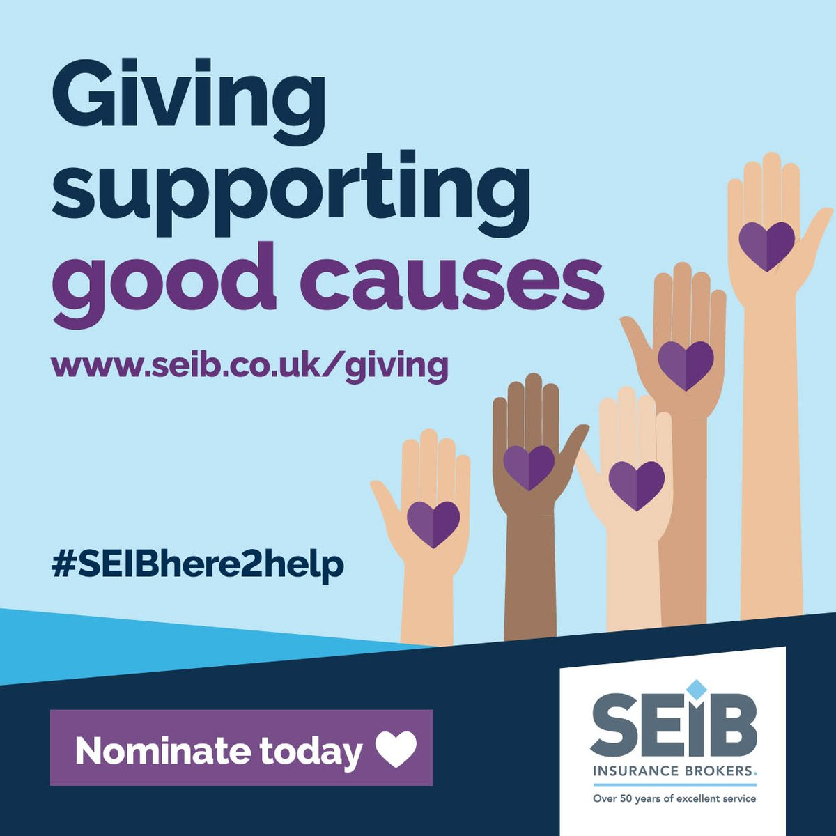 Just one week to go until nominations close for the @seib Insurance Brokers Charity Awards 2021. Please help us make sure #TeamMintridge gets through to the final vote by nominating us now at  #SEIBHere2Help