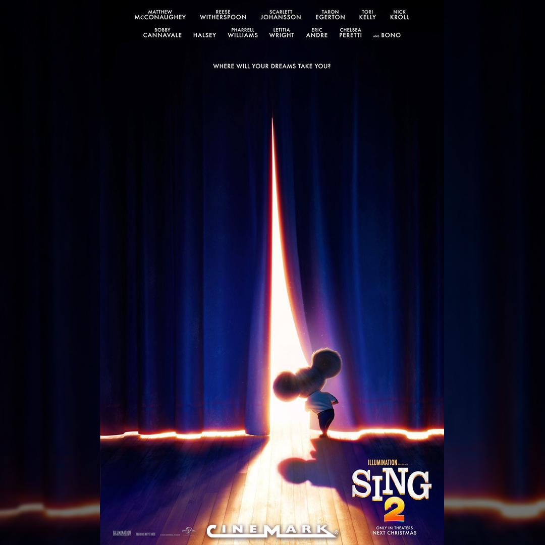 ¿Estás preparado para volver a cantar? 🤩🎤 Próximamente en Cinemark, revive la magia del espectáculo con #Sing2