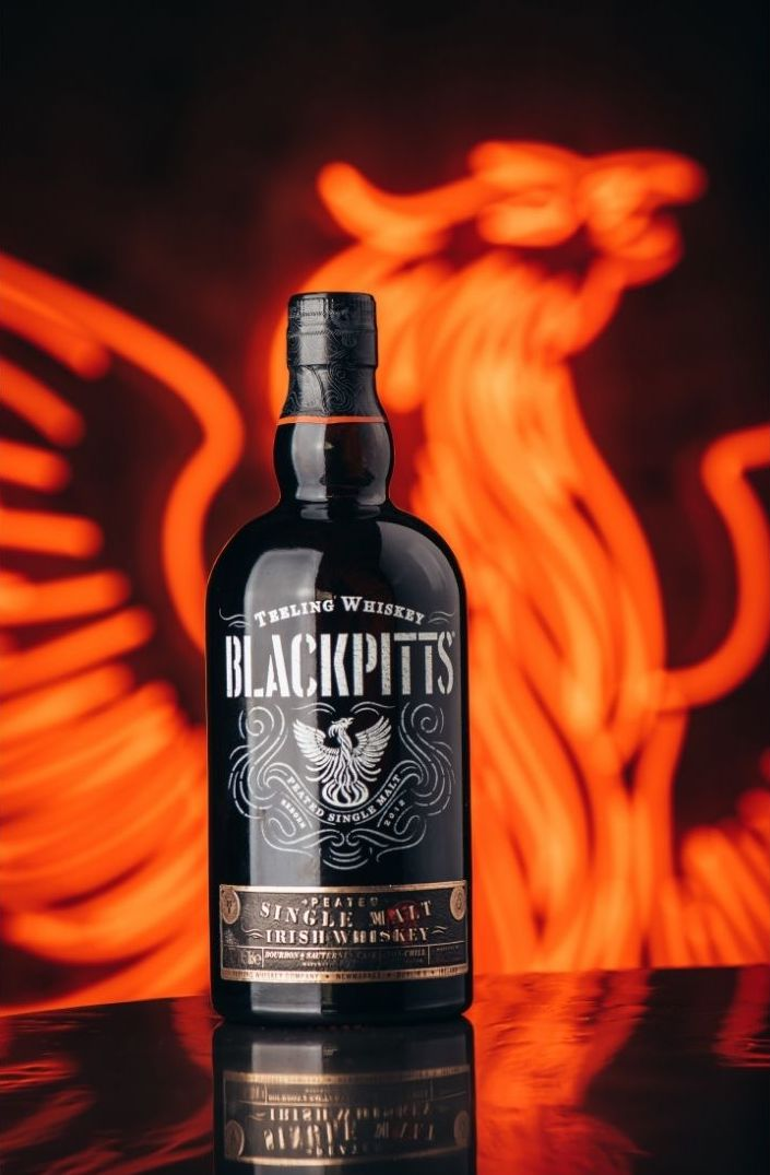 Introducing @TeelingWhiskey Blackpitts Peated Single Malt, an expression that boldly goes where no Irish Whiskey has gone before. ⁣ Shop now →