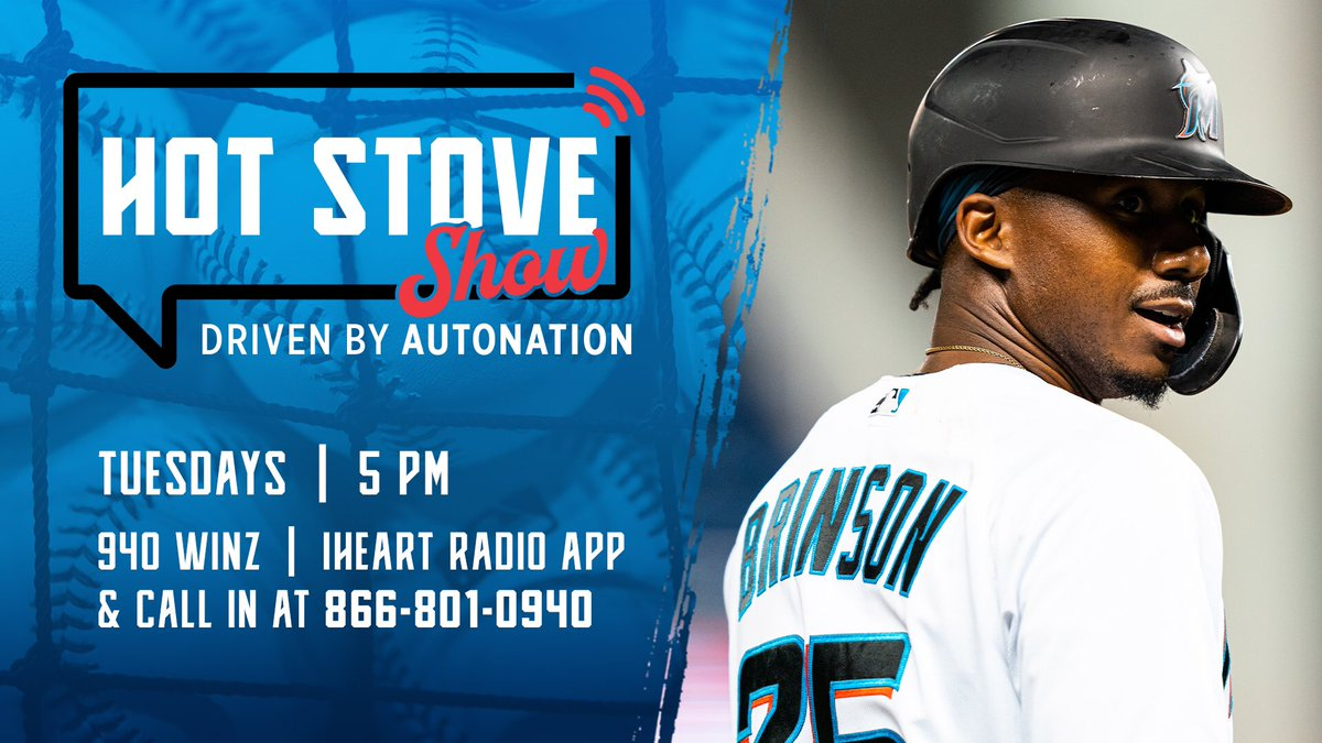 🚨It's a new year and the @Marlins Hot Stove Show driven by @AutoNation is back tonight at 5pm🚨 @LewisBrinson and Miami hitting coach, Eric Duncan, join @Kyle_Sielaff on @940WINZ and the @iHeartRadio app. #305OnTheRise // #JuntosMiami
