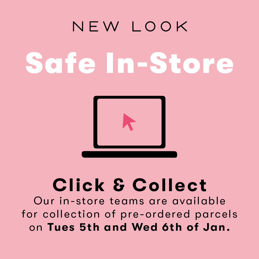 Need to collect your order? We're available in our stores for you to collect your parcel Tue 5th – Wed 6th Jan 9:30am -6pm https://t.co/gZP0RYEg5w