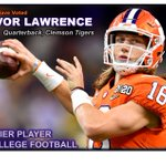 Image for the Tweet beginning: Fans voted Trevor Lawrence as