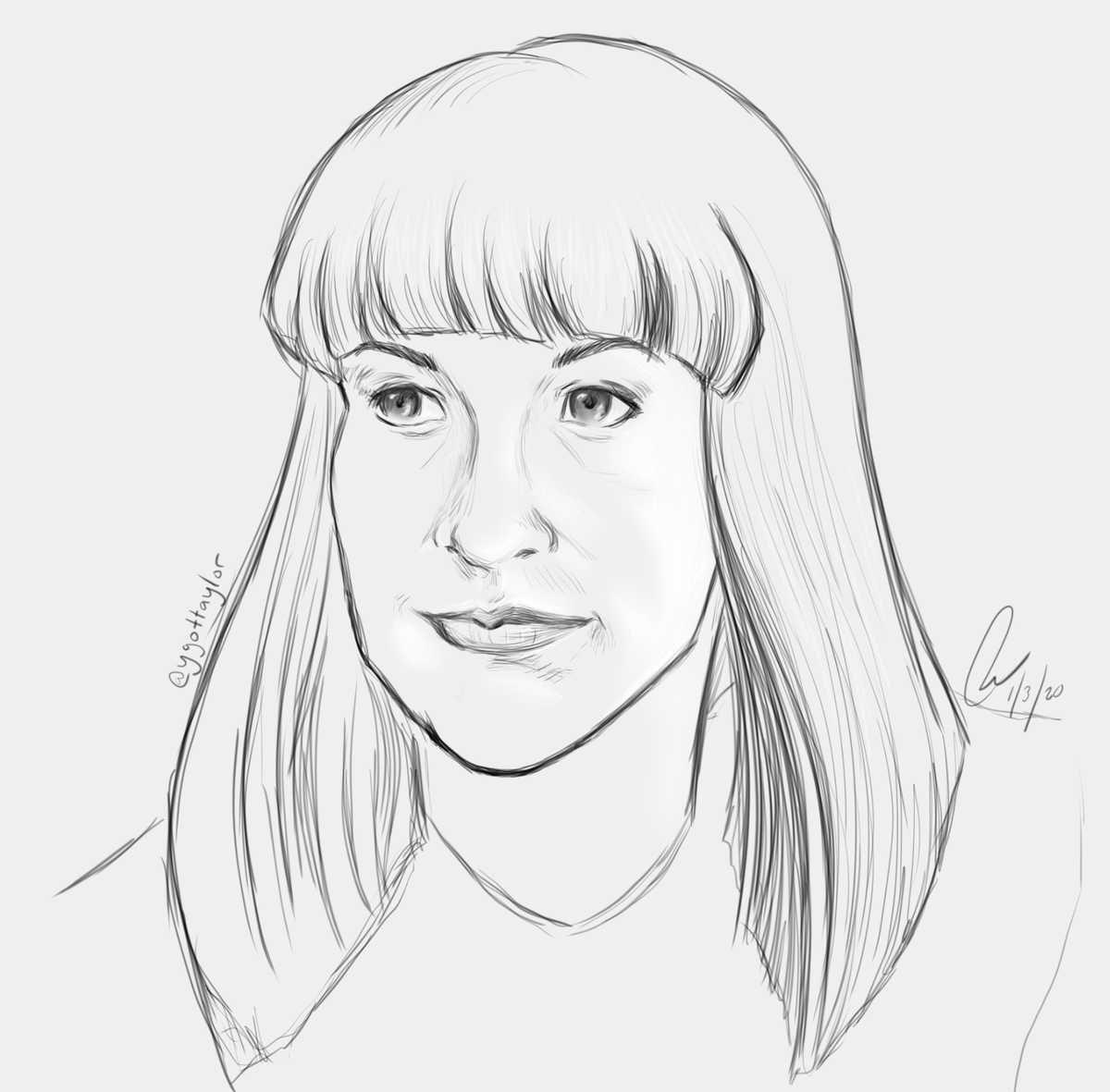 Another portrait - this time of @TheGoodDeath (Caitlin Doughty). Her work has really been inspiring and personally helped me in many ways - enjoyed her book #SmokeGetsInYourEyes very much (very much = I cried)! #art #facestudy #Caitindoughty #AskAMortician