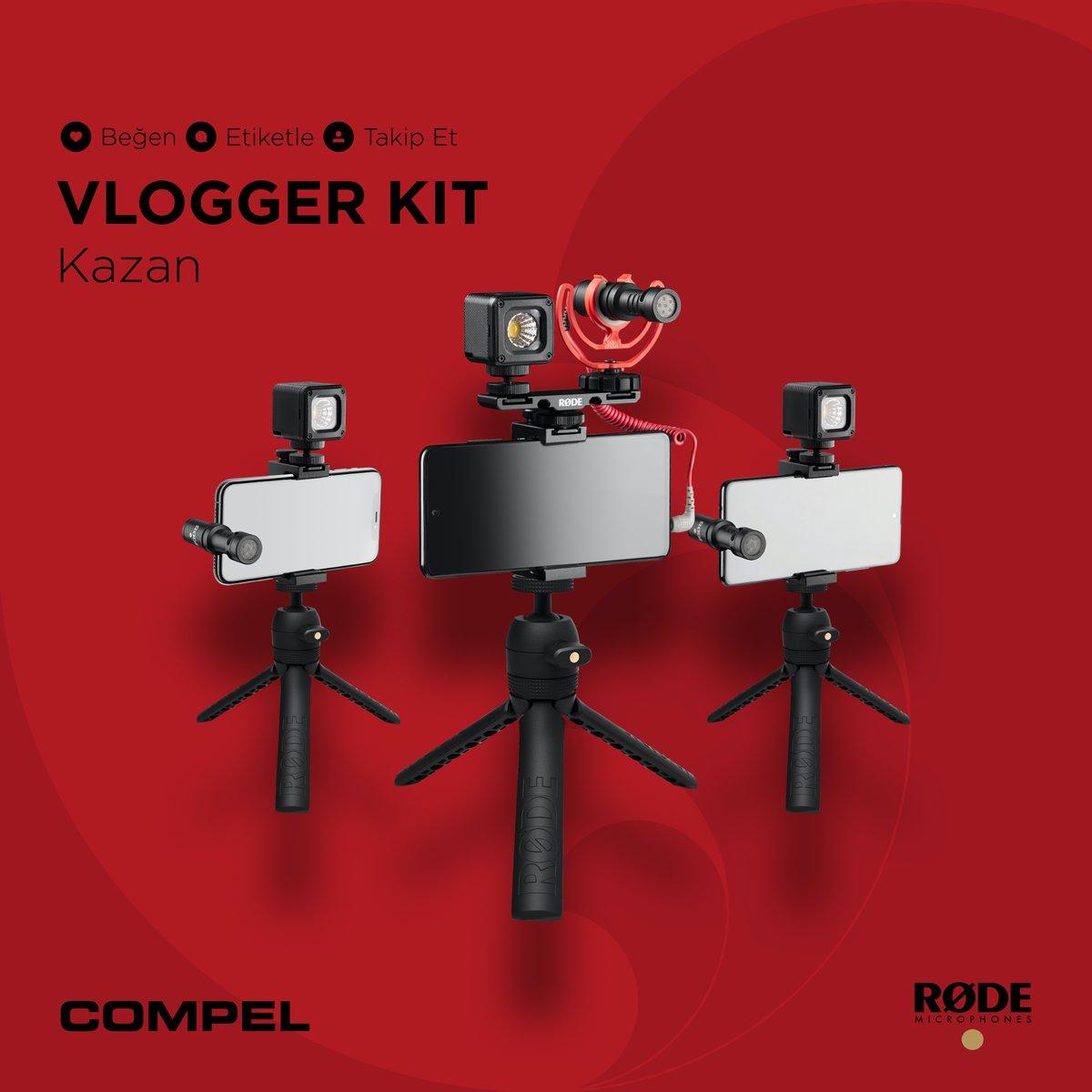 ✨🎁✨ Bu ay @mrt_gundogdu ile ortak düzenlediğimiz çekilişle 1 kişiye lightning, USB-C ya da 3.5 mm konnektörü bulunan akıllı telefonlar ile çekim yaparken profesyonel sonuçlar almanızı sağlayacak her şeye sahip @rodemics vlogger kit hediye ediyoruz 😲 #Compel #RØDE