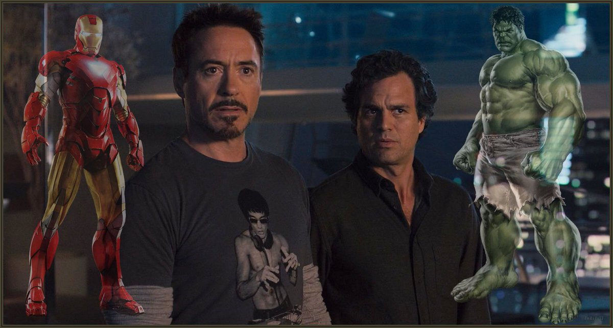 Science and strength. 💚❤️ #BruceBanner #TonyStark #Hulk #IronMan #ScienceBros #ScienceBrosForever #ScienceBrosSunday #MarkRuffalo #RobertDowneyJr
