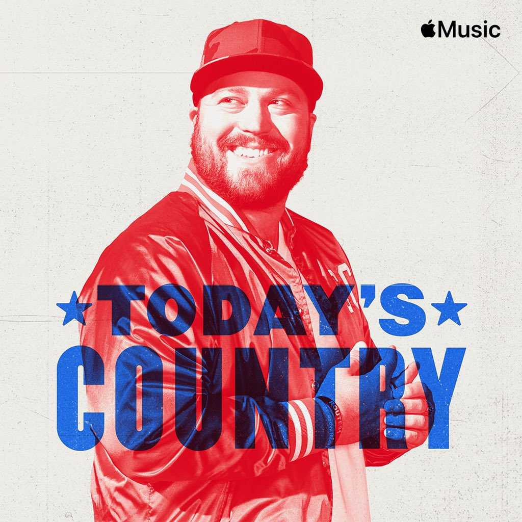 "Not going to lie... it's so cool to see my face as the cover of #TodaysCountry playlist on @applemusic — & to see ""Bucket List"" as the first song is badass.. link to listen to the playlist is here"