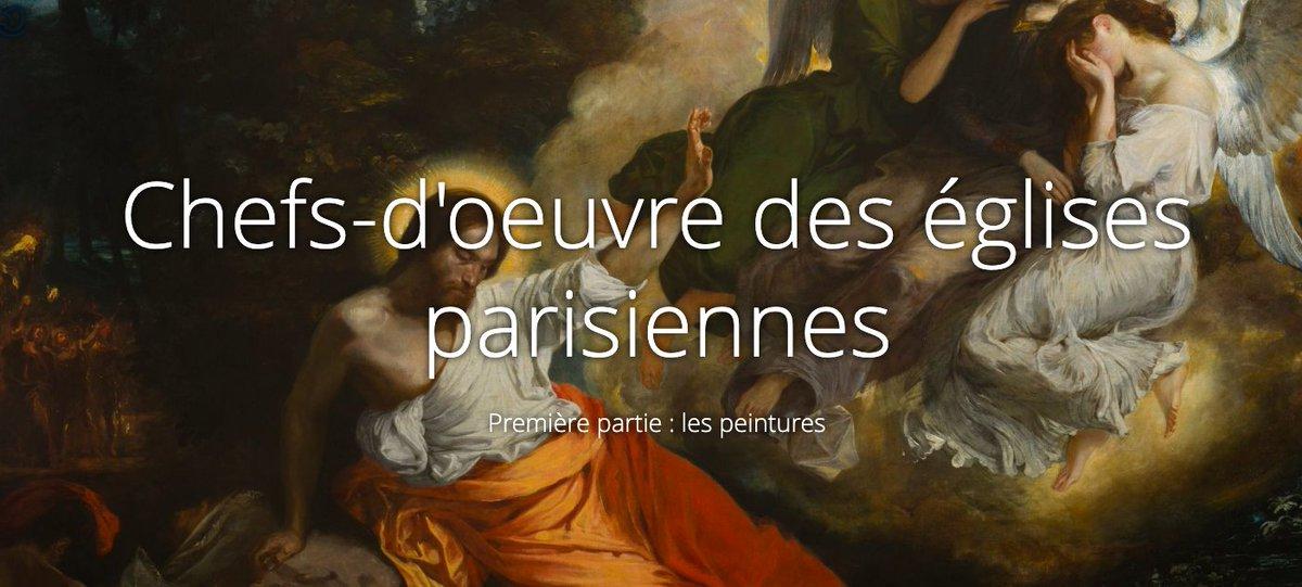 """🤩 Près de 50 000 oeuvres d'art, dont des tableaux d'Eugène Delacroix et une sculpture de Keith Haring, sont abritées dans les églises parisiennes.  #Expo """"Chefs-d'oeuvre des églises parisiennes"""":  🎨 1/Peintures:  🗿 2/ Sculptures:"""