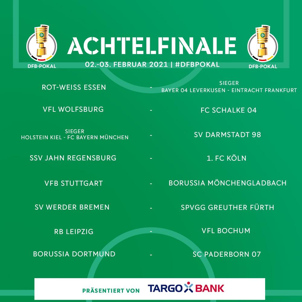 Dfb Pokal On Twitter Die Achtelfinal Begegnungen Im Dfbpokal Auf Welches Duell Freut Ihr Euch Am Meisten Berlin2021